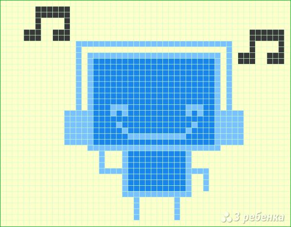Схема фенечки прямым плетением 6390