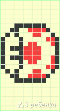 Схема фенечки прямым плетением 6305