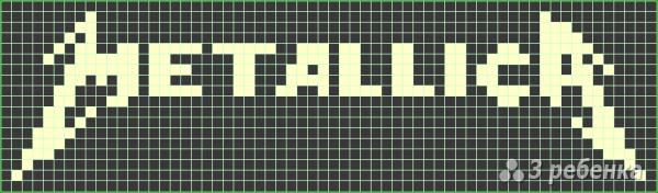 Схема фенечки прямым плетением 5813