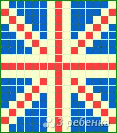 Схема фенечки прямым плетением 6478
