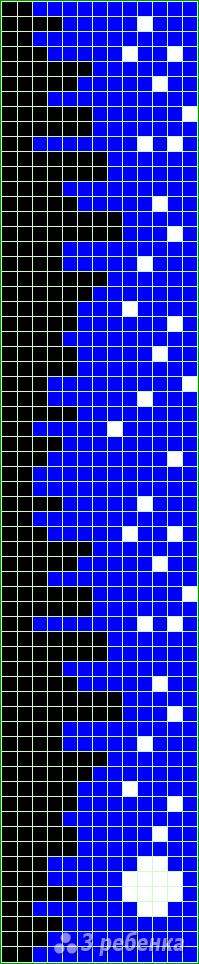 Схема фенечки прямым плетением 5955