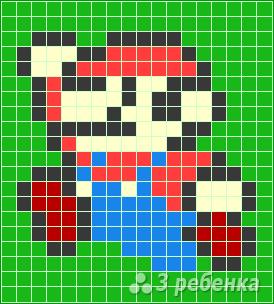 Схема фенечки прямым плетением 6501