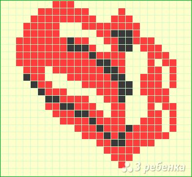 Схема фенечки прямым плетением 6449