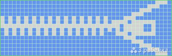 Схема фенечки прямым плетением 5964