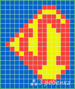 Схема фенечки прямым плетением 6587