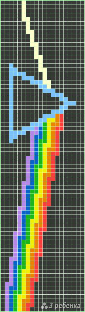 Схема фенечки прямым плетением 5845