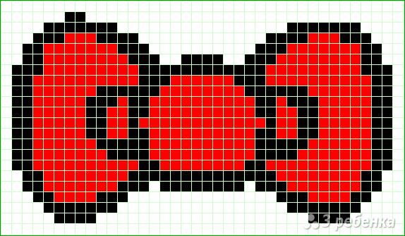 Схема фенечки прямым плетением 6424