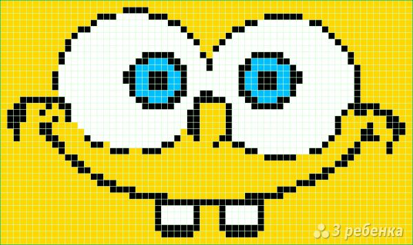 Схема фенечки прямым плетением 5946