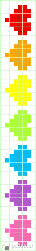 Схема фенечки прямым плетением 6282