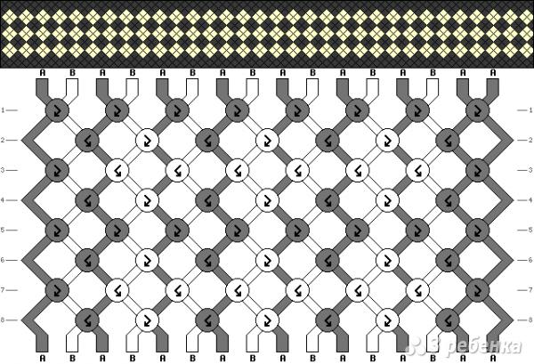 Схема фенечки 6947