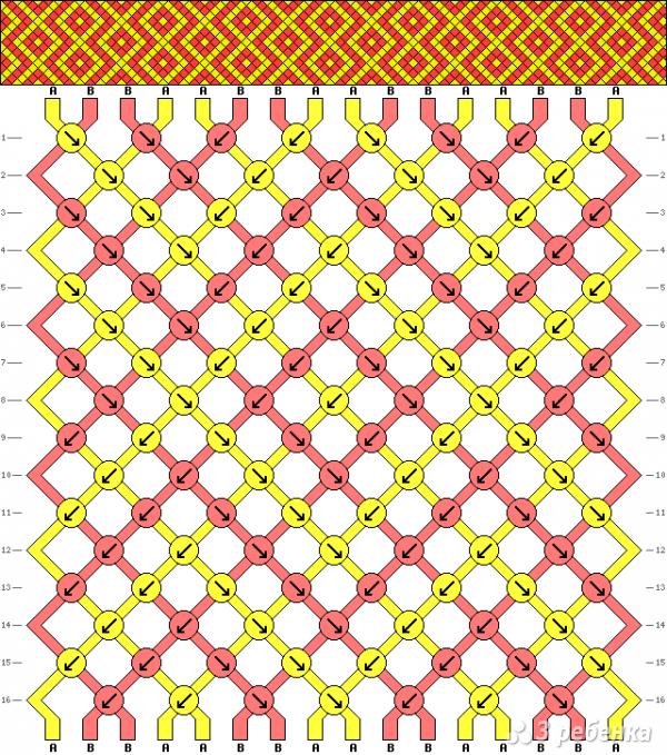 Схема фенечки 6811
