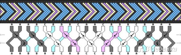 Схема фенечки 6908