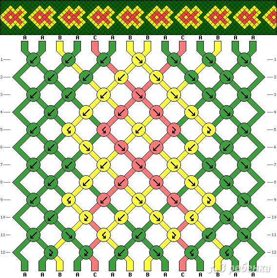 Схема фенечки 6819