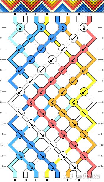 Схема фенечки 7059