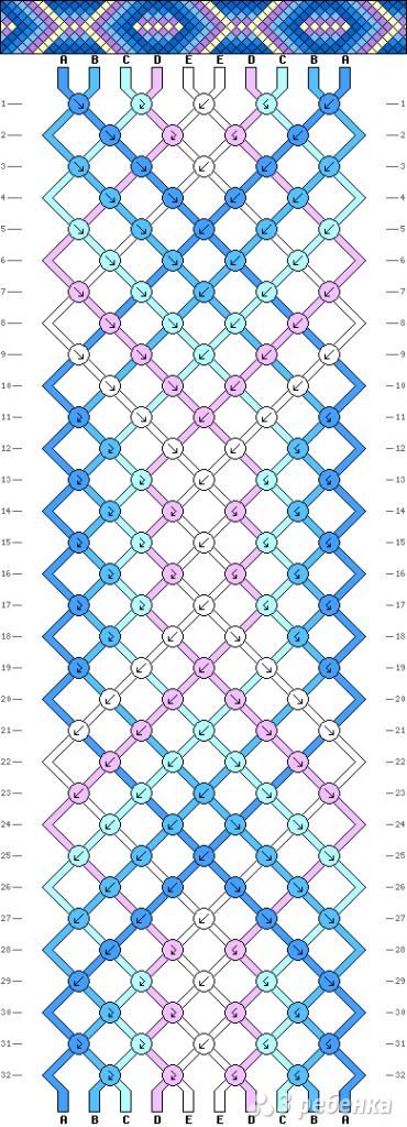 Схема фенечки 7001