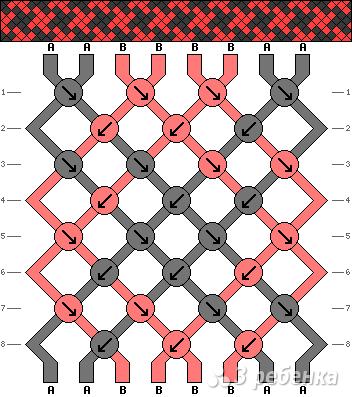 Схема фенечки 6871