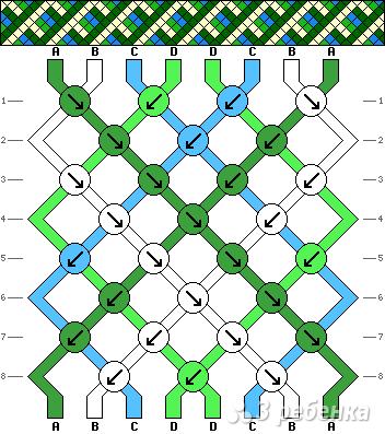 Схема фенечки 7073