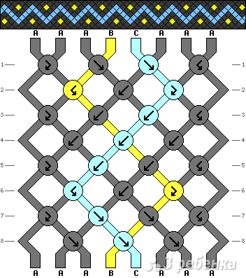 Схема фенечки 6952