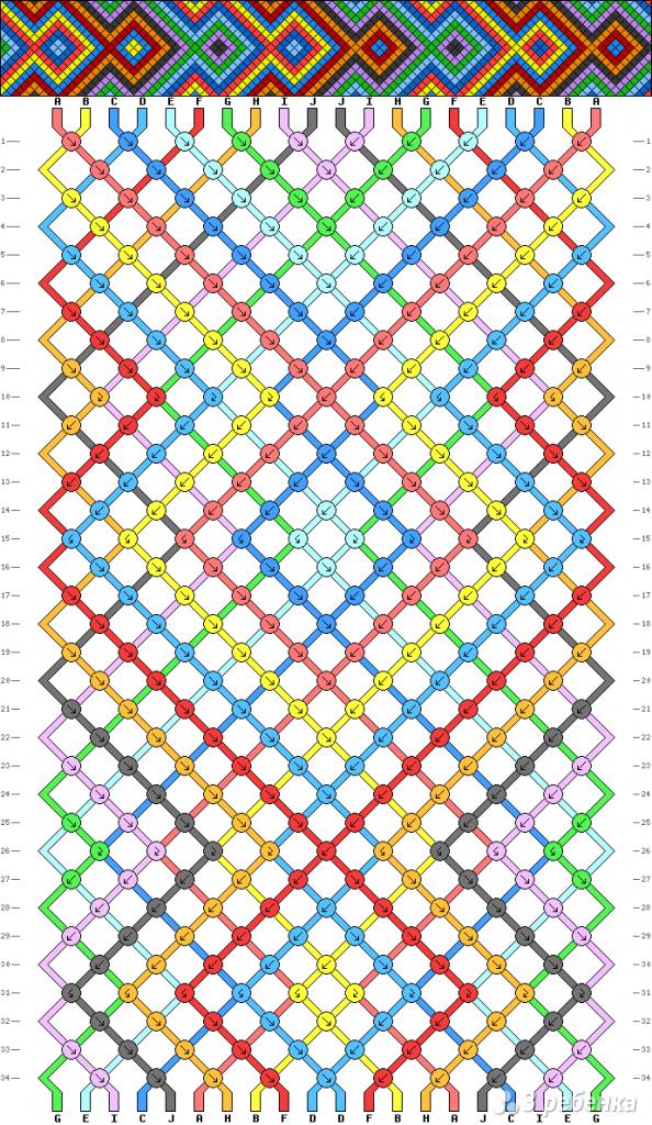 Схема фенечки 6826