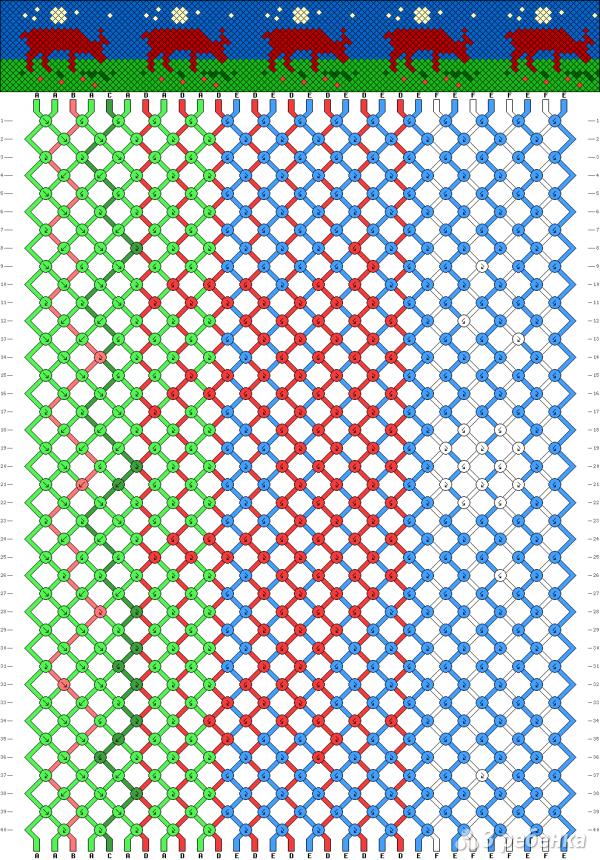 Схема фенечки 6994