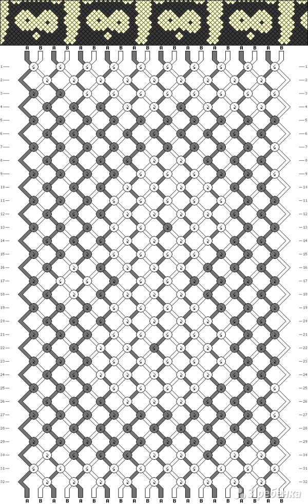 Схема фенечки 6863