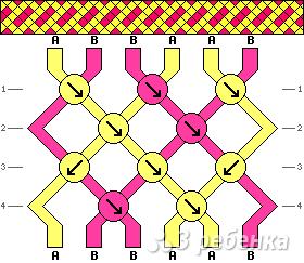 Схема фенечки 6711