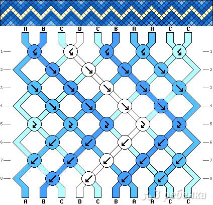 Схема фенечки 6930