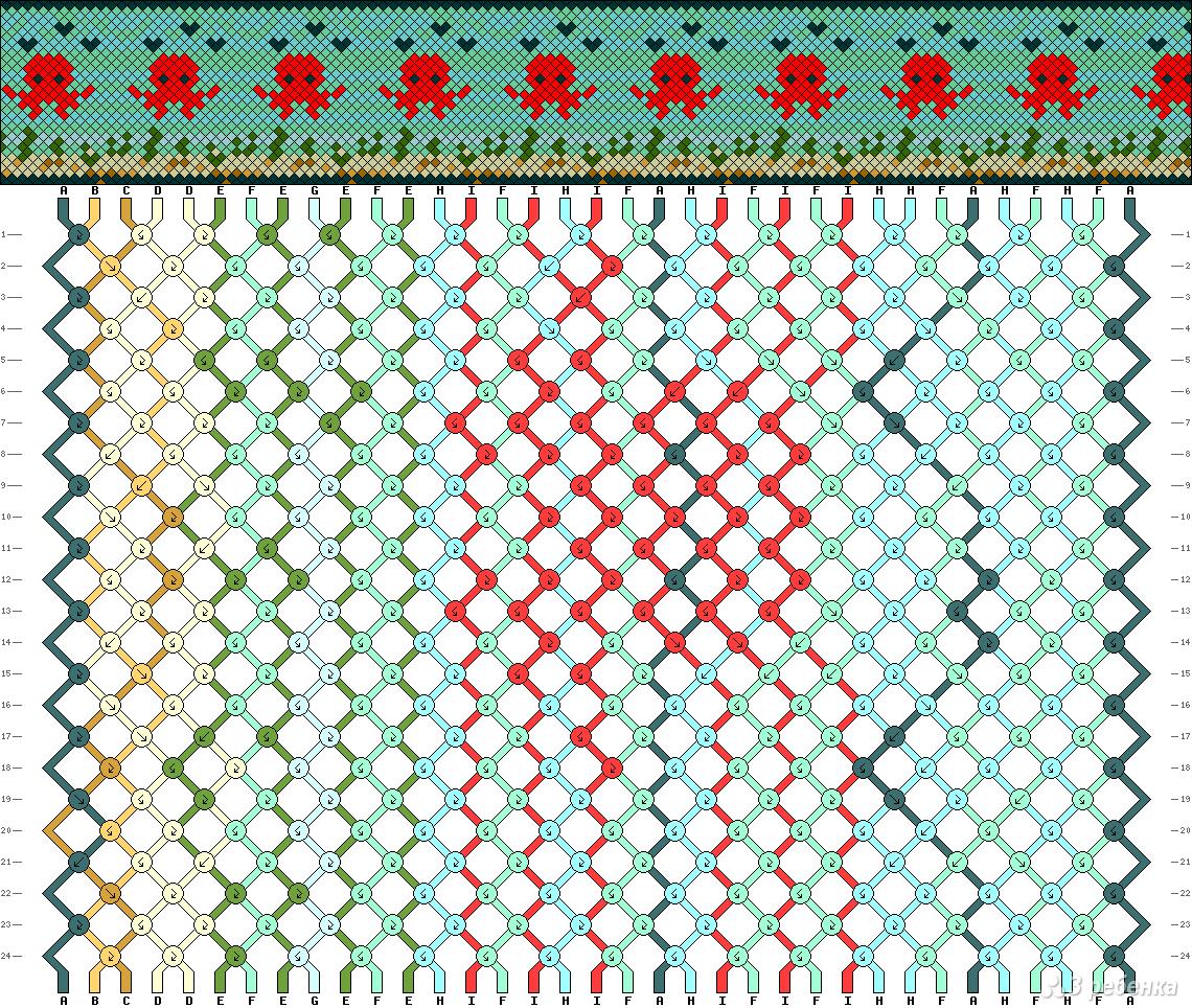 Схемы для плетения фенечек с животными