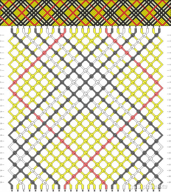 Схема фенечки 6852