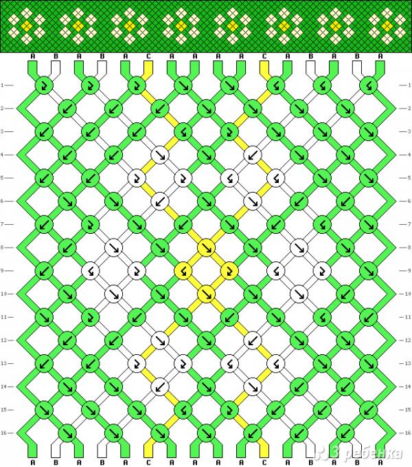 Схема фенечки 6842