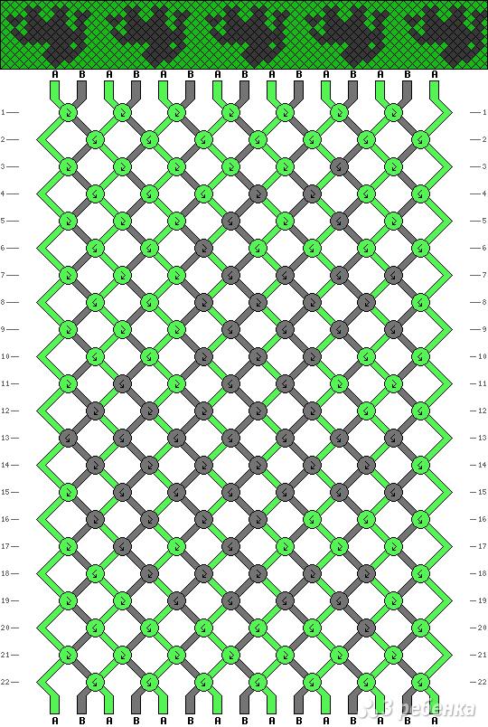Схема фенечки 6750
