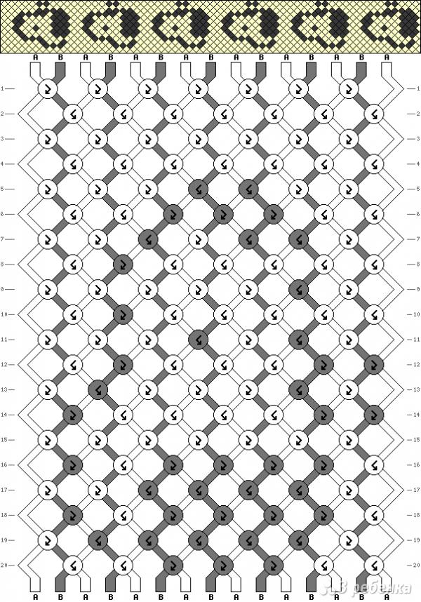 Схема фенечки 6793