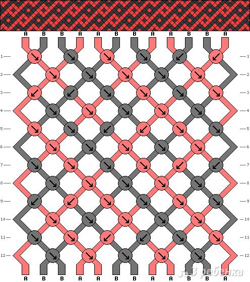 Схема фенечки 6778