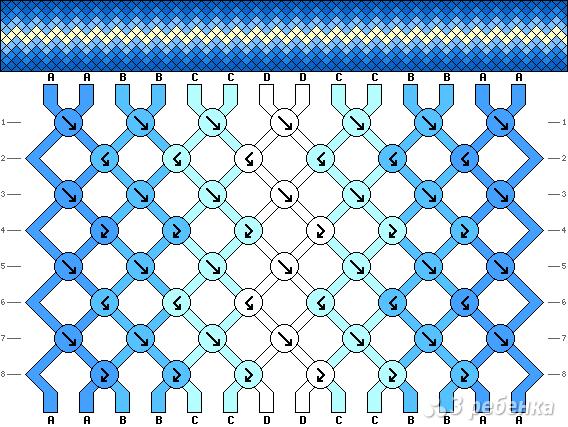 Схема фенечки 7043