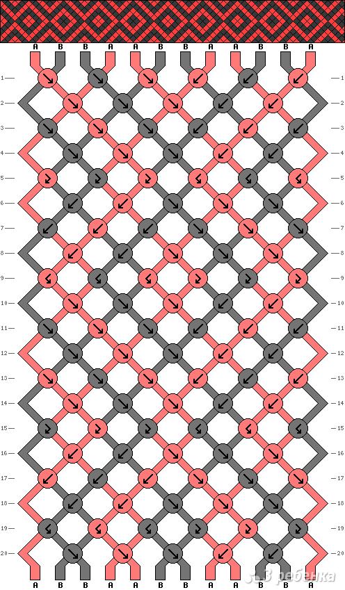 Схема фенечки 7718