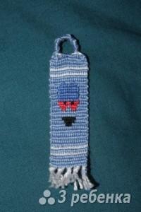 Схема фенечки прямым плетением 7280