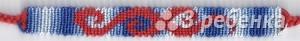 Схема фенечки прямым плетением 7528