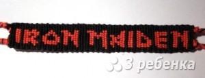 Схема фенечки прямым плетением 7348