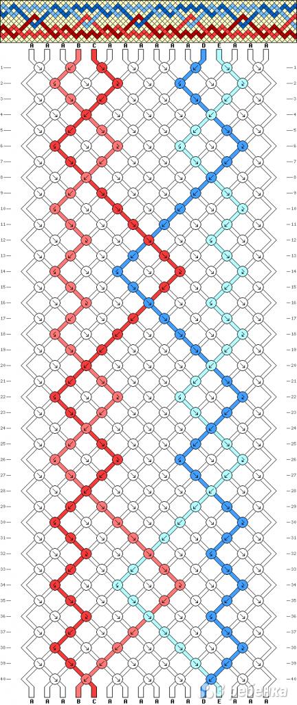 Схема фенечки 7859