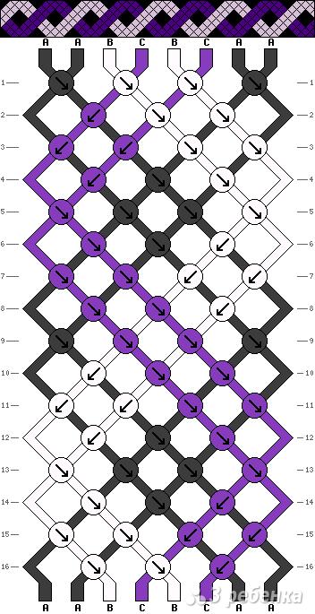 Схема фенечки 7807