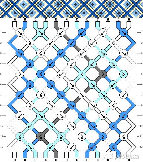 Схема фенечки 7764