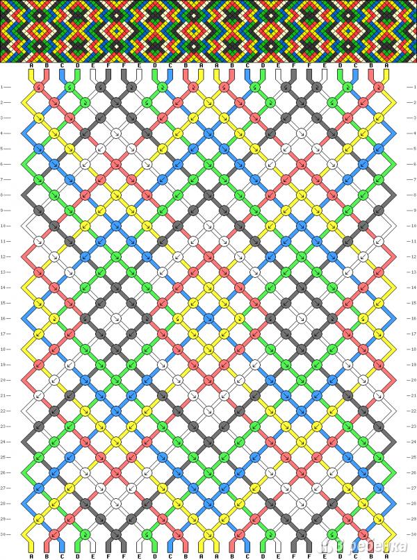 Схема фенечки 7754