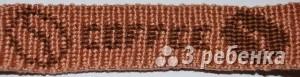 Схема фенечки прямым плетением 7267
