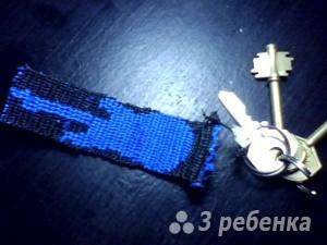 Схема фенечки прямым плетением 7210