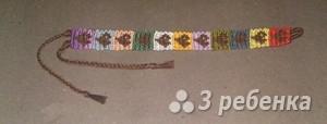 Схема фенечки прямым плетением 7332