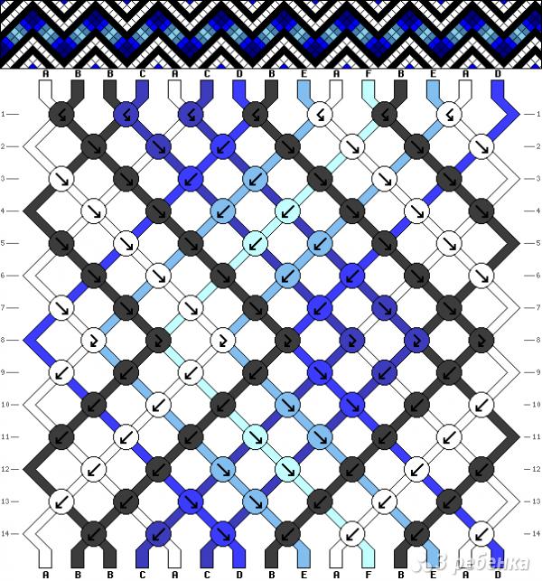 Схема фенечки 7669