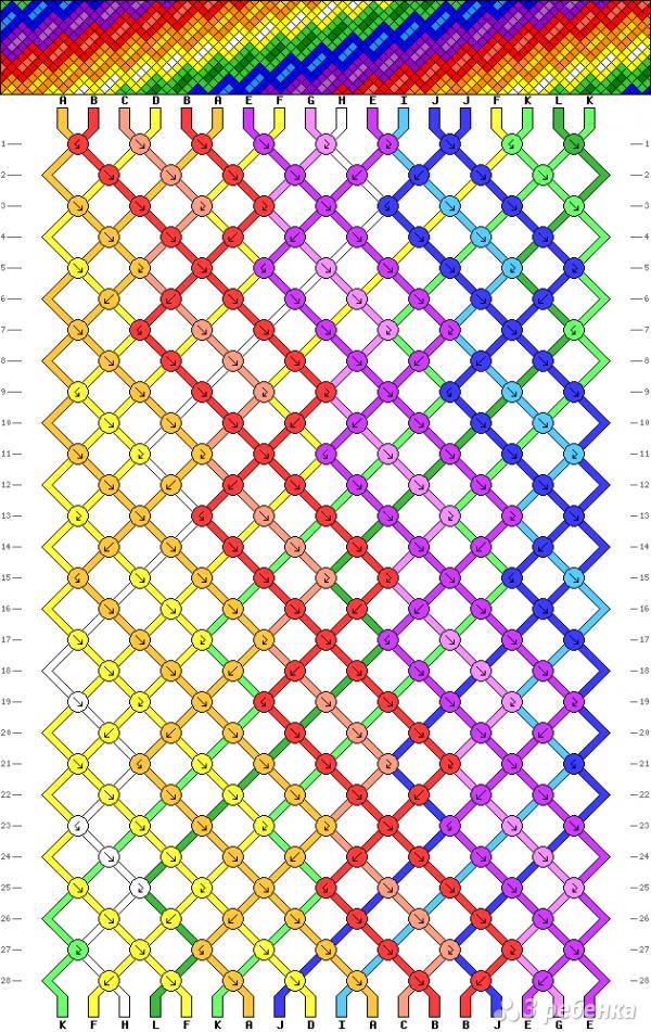 Схема фенечки 7890