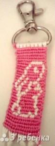 Схема фенечки прямым плетением 7226