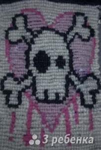 Схема фенечки прямым плетением 7129