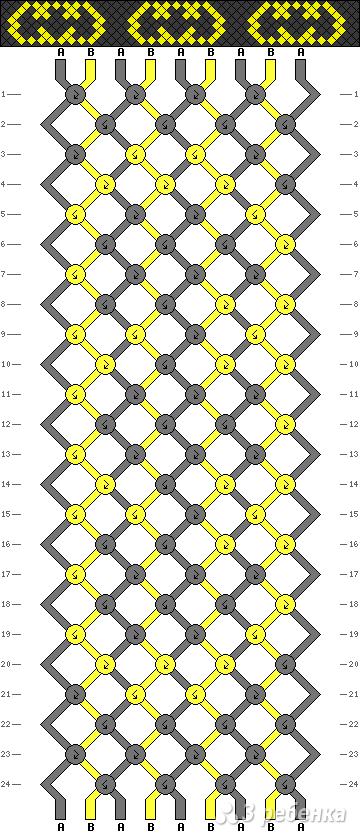 Схема фенечки 7609